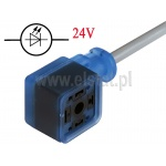 Złącze do elektrozaworu 18mm; GAN-DBFE7X-AG0200C1-XC ; 2+2PE; LED 24V
